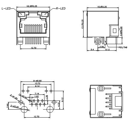 Db9 Rs232 Pinout additionally Rj45 Connector Wiring Diagram together with Quickport Jack Connector further Dmx688 further Cat5 568b Wiring Diagram. on rj45 connector wiring diagram