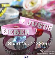 новый Justin Bieber браслет кремния браслет черный с розовый цвет