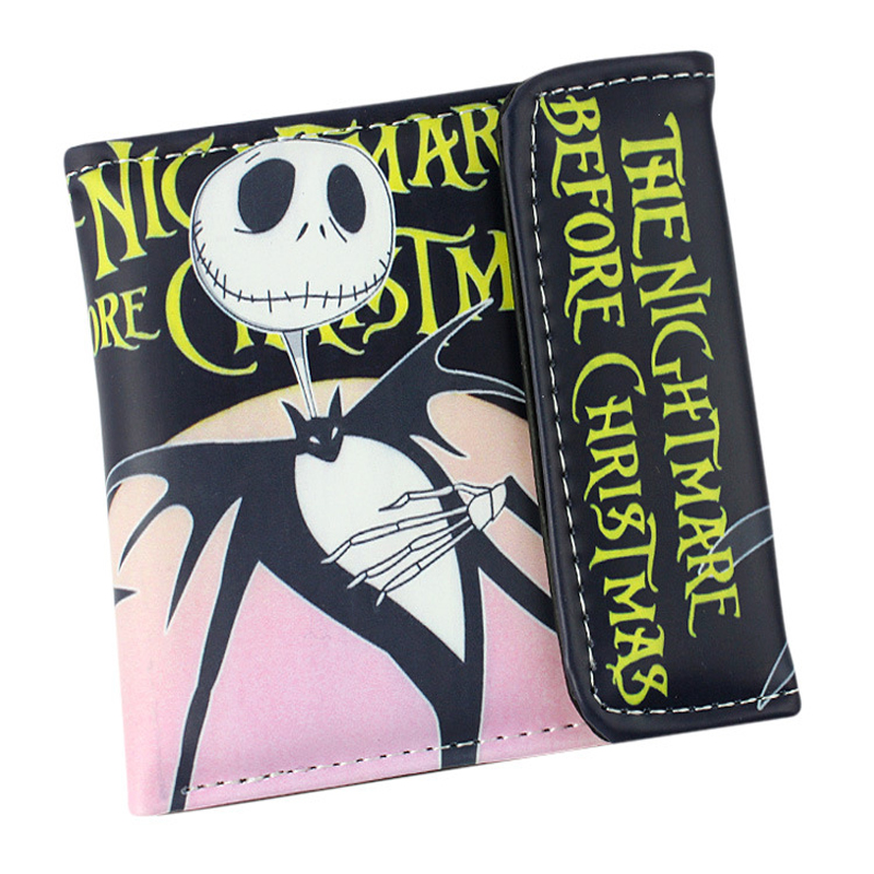 The Nightmare Before Christmas Sally Jack Skellington Dr. Finkelstein Multilayer colorful PU short wallet with button Type D the nightmare before christmas jack polyester shoulder bag colorful halloween pumpkin printing