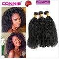 8A Brasileiro Curly Virgem Cabelo 3 Bundles Kinky Curly Virgem Cabelo Remy Não Processado Tecer Cabelo Humano Afro Kinky Curly Hair