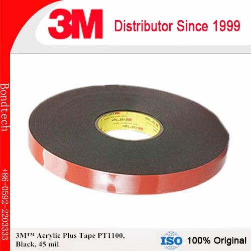 3M PT1100F Acrylic Klebeband schwarz 6 mm x 66 m 1,1 mm