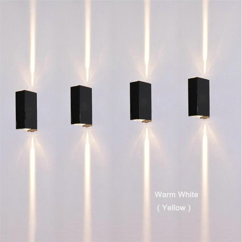 6W Outdoor Led Wall Lamps Square Waterproof Sconce Up and Down Side ...