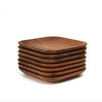 1 unids de madera de estilo japonés placa artículos para el hogar herramienta de la cocina platos de madera vajilla de mesa herramientas de la boda bandeja bandeja de la fruta