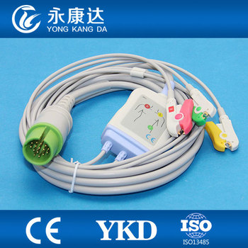Spacelabs 90369 Ultraview ECG cable with  3 lead IEC,Clip 17pins