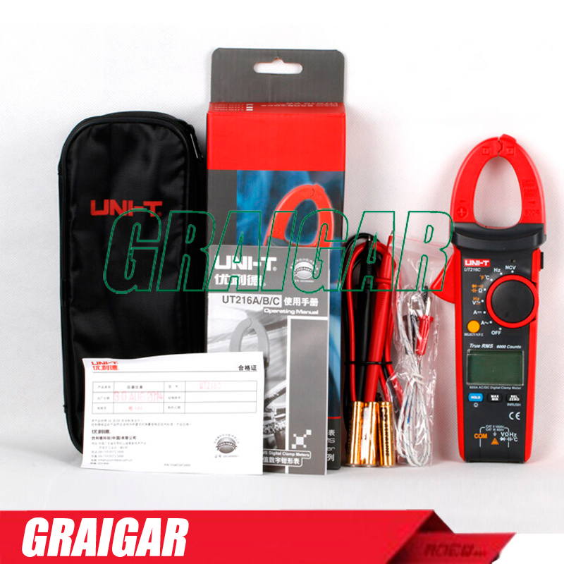 цены на UNI-T UT216C 600A True RMS Digital Clamp Meters Auto Range w/Frequency Capacitance Temperature NCV Test в интернет-магазинах