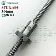 TBI 1605 C5 Laminé À 500mm vis à billes 5mm plomb avec SFU1605 ballnut + fin usiné pour CNC z axe diy kit