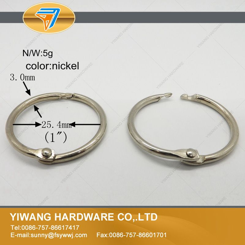 Secure Card Collection Ring Nickel Plated NoteBook Ring Curtain Ring 10pcs/package Wall Calendar Circle  Never Fade