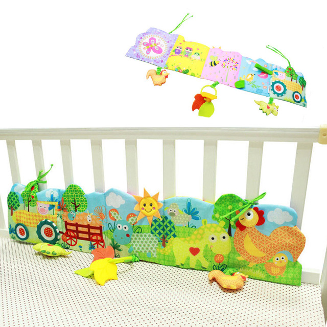 0-24 Month Baby Bed Bumper Carton Cloth Book Ruffle Soft Knowledge Fun And Colorful Crib Bumper For Children Baby Bedding Set