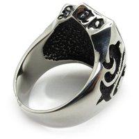 Винтаж стиль мужчины кольца, ювелирные изделия ретро нержавеющая сталь 316L нержавеющая сталь для де less ну поливать кольцо панк