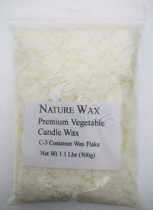 500g Nature Wax Premium Vegetable Candle Wax C3 Container Wax Flake Net Wt 1.1Lbs