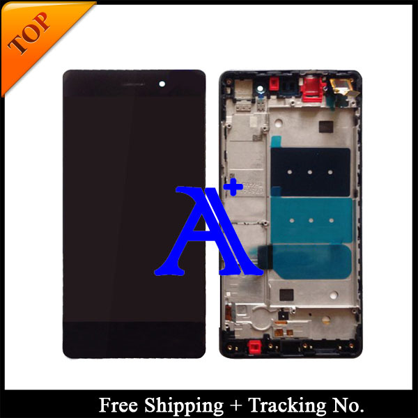Free Shipping 100%  Tested working For Huawei Ascend P8 Lite LCD Display Touch Screen Digitizer Assbemly With Frame - 5.0 inch