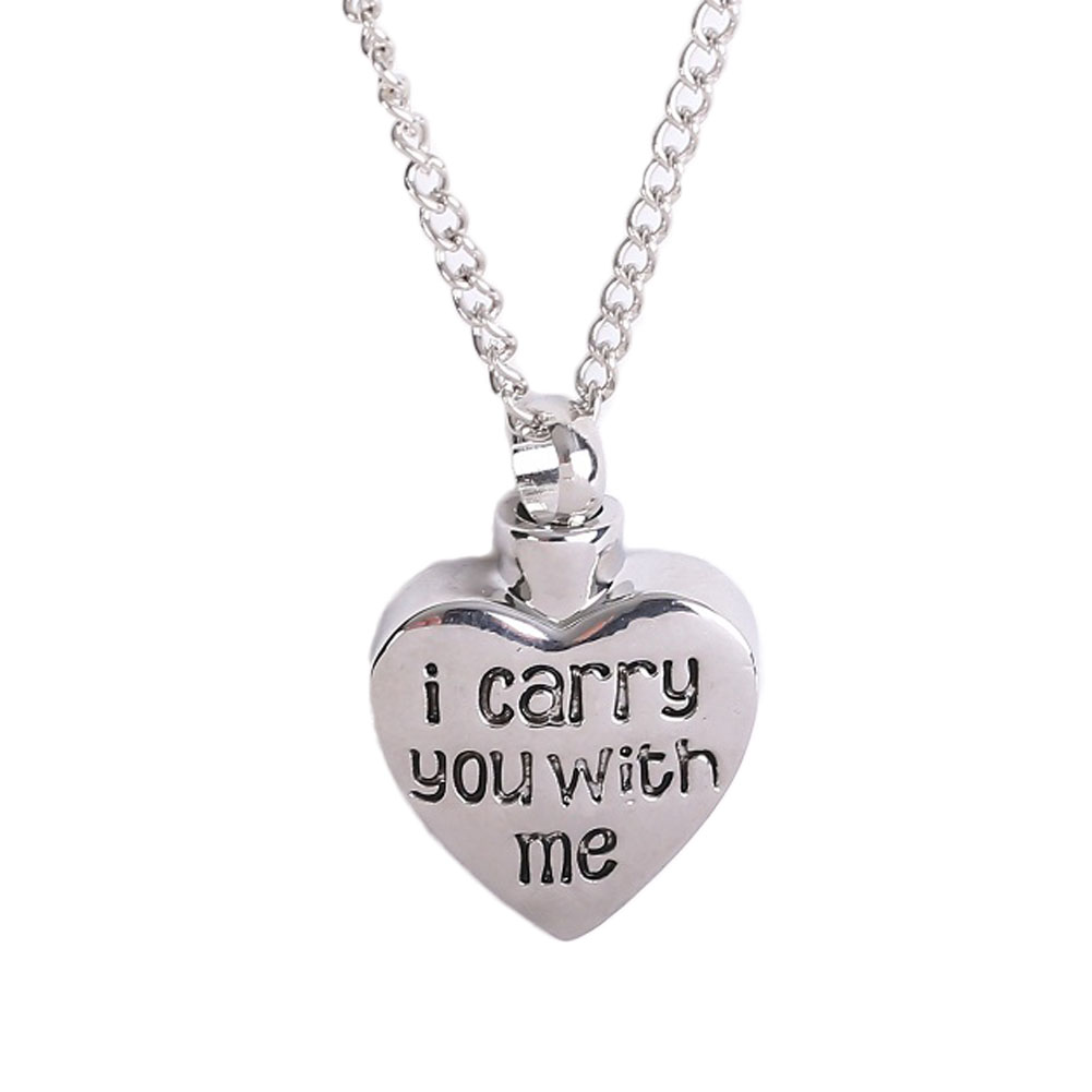 Fashion Letter I carry you with me Heart shape Cremation ...