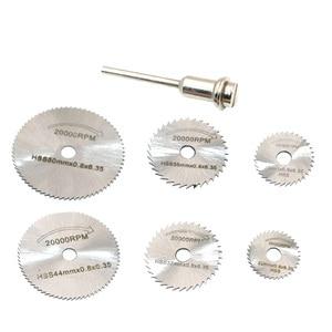 Image 5 - Nieuwe Draagbare Rotary Tool Circulaire Zaagbladen Doorslijpschijven Stempel Voor Dremel Cutoff QST7pcs