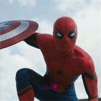 High Quality Captain America Civil War Spiderman Cosplay Costume Spiderman Cosplay Bodysuit Spiderman Zentai Suit