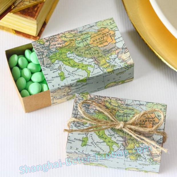 Free Shipping 336pcs World Map Favor Box Th031 A0 Unique Wedding