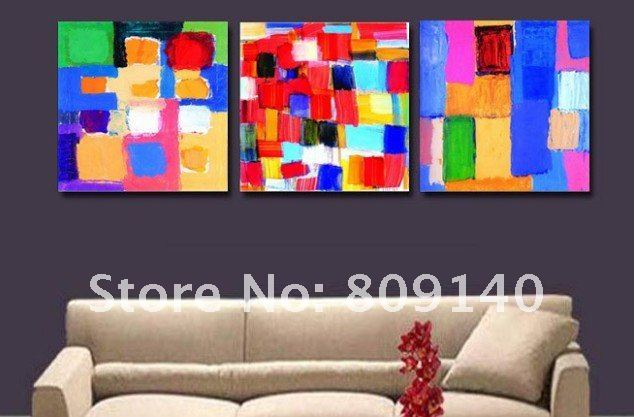 Free Shipping Oil Painting On Canvas Modern Abstract Colors Decoration High  Quality Handmade Home Office Decor
