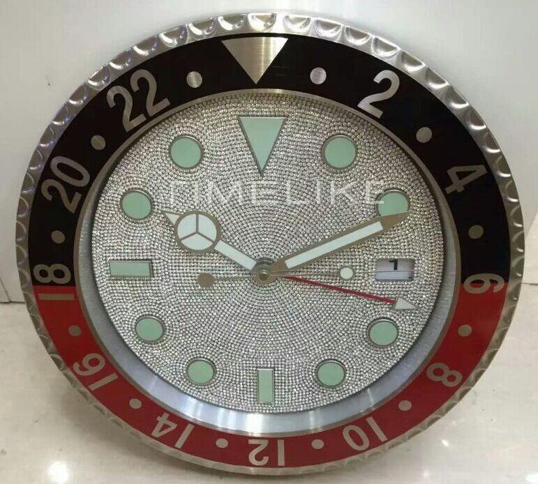 Diamond Like Clock Face Large Luxury Diamond Wall Clock