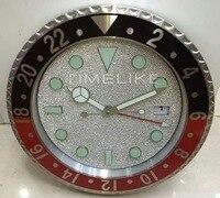 Diamond like clock face Large Luxury Diamond Wall Clock Watch Shape Wall Clock