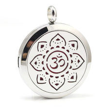 7ab2abe81c6 10 pçs lote Aço Inoxidável Símbolo Yoga Aromaterapia Difusor de Óleo  Essencial Colar de Pingente de Colar