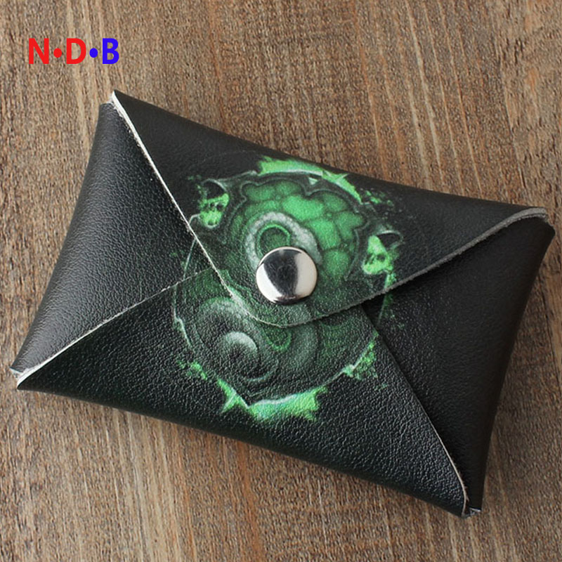 (Coin Purses) New pattern fashion coin purse Male lady Short coin bag Potter Harry Slytherin college card package LQB1089