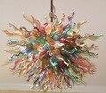 Изящная Современная Цветочная люстра ручной работы из муранского стекла для гостиной