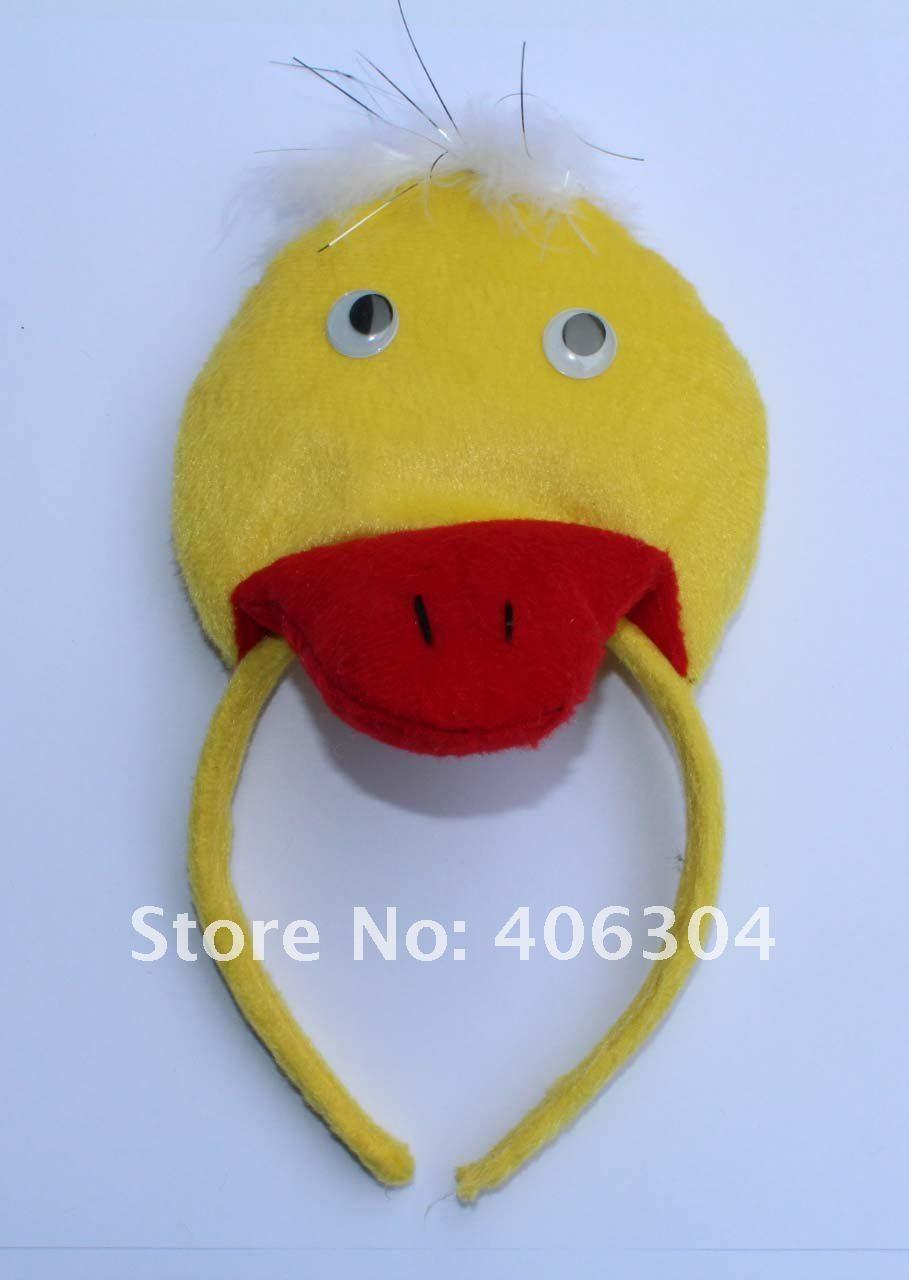 Детские повязки на голову с желтой уткой для взрослых, вечерние головные уборы для пасхи, вечерние, рождественские, детские
