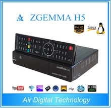 2pcs/lot Zgemma H5 Combo DVB-S2+DVB-T2/C Linux Dual Core Digital TV Receiver HEVC H.265 SET TOP BOX
