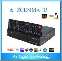 2pcs/lot Zgemma H5 Combo DVB S2+DVB T2/C Linux Dual Core Digital TV Receiver HEVC H.265 SET TOP BOX