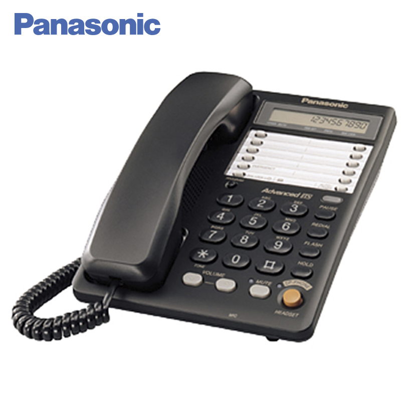 Panasonic KX-TS2365RUB Phone landline, LCD display on the body of the phone displays the time and data of the current call panasonic kx ts2365rub phone landline lcd display on the body of the phone displays the time and data of the current call