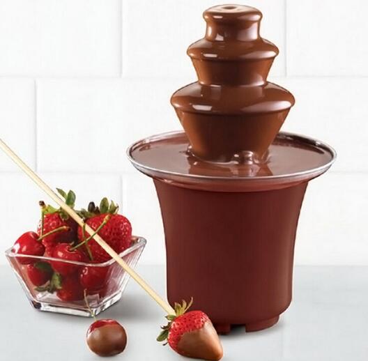 New Mini Chocolate Fountain Household 3-Tier Chocolate Fountain Machine Choco Tree EU Standard