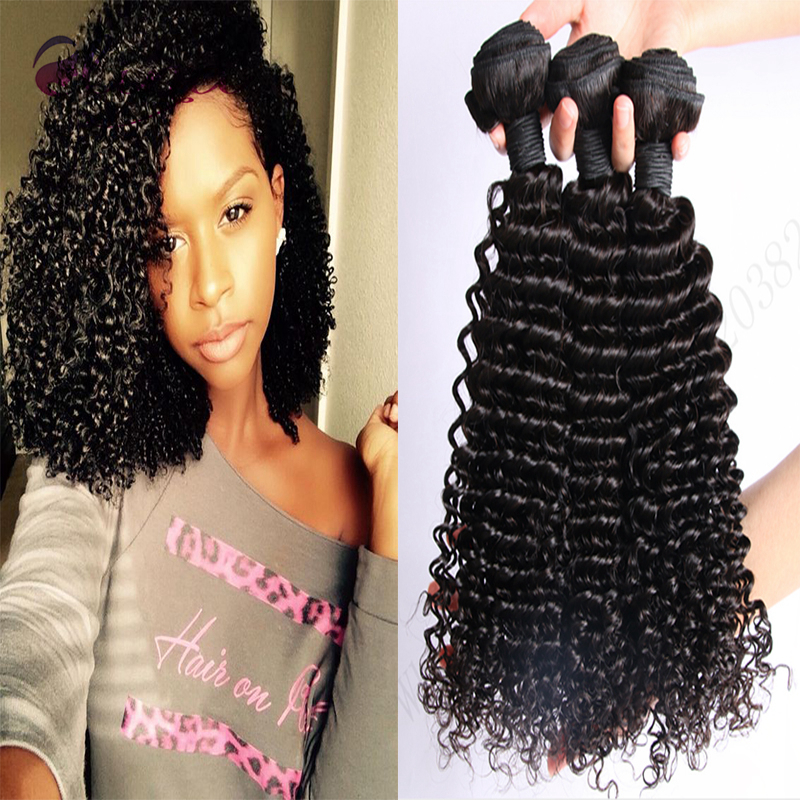 Best Unprocessed 10A Grade Indian Curly Virgin Hair Weave 3Pcs/Lot Cheap Indian Virgin Hair Extensions Kinky Curly Virgin Hair