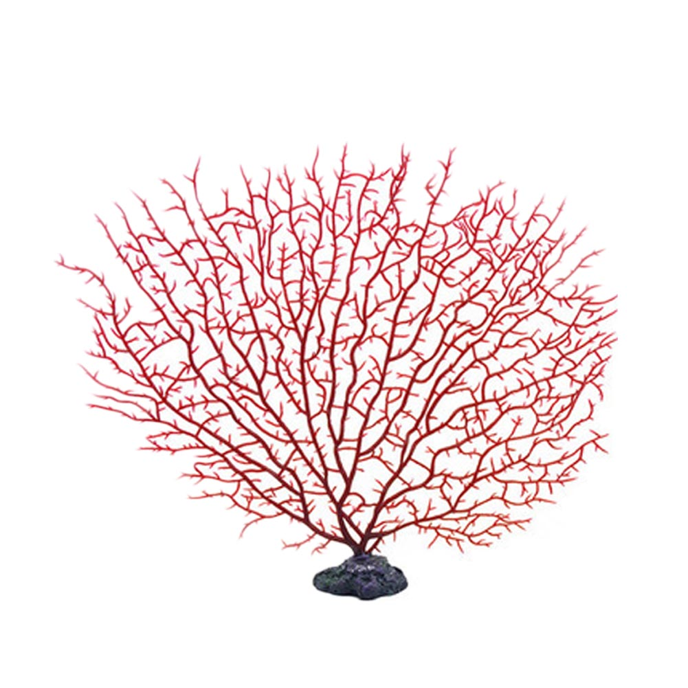 2017 Simulation Artificial Resin Coral Tree for Aquarium Tank Decoration Soft Ornament Red