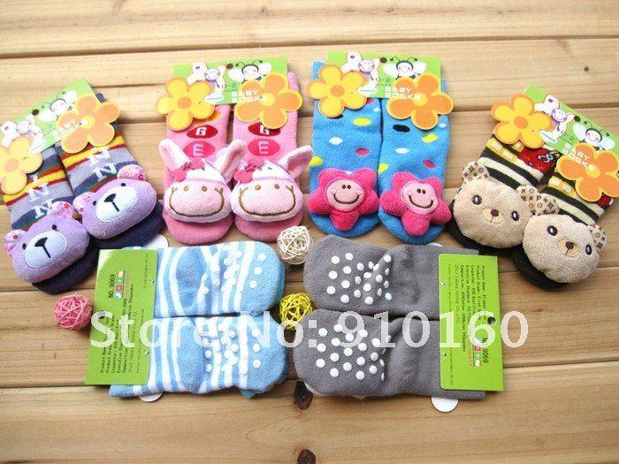 12 пар/лот; носки для малышей с животными; Детская уличная обувь; нескользящие дорожный носок; хлопковые носки для младенцев; подарок для детей