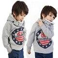 2016 Autumn Winter Children Plus Velvet Sweatshirt  Hoody Boy Letters Cotton Kids Clothes Long Sleeve Baby Boy Hoodies Jacket