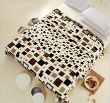 7 Color Available Coral Fleece Velvet Blanket Bed Sheet Plaid Blanket Throw Bedding blanket Twin Full Queen King Size