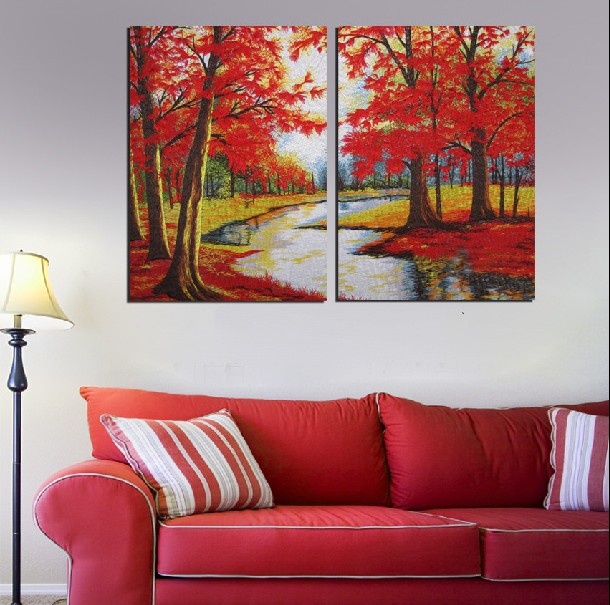 2 Panel Hot Modern Wall Painting Home Decorative Art Picture Paint On Canvas Prints Blood