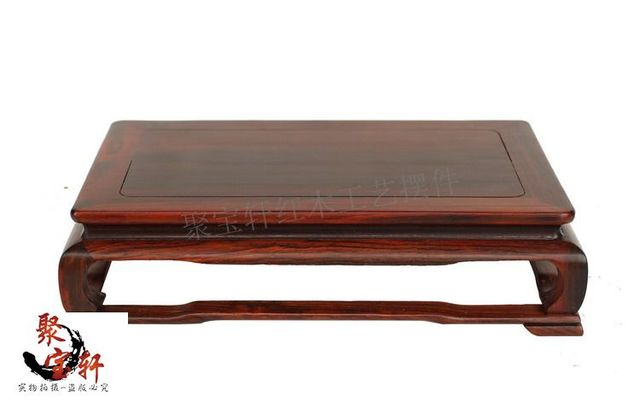 Red Square Wooden Vase Of Buddha Rosewood Carving Furnishing
