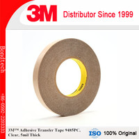 3M Adhesive Transfer Tape 9485PC Clear, 5 mil, 2 in x 60 yd 5 mil (Pack of 1)