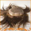 Наиболее естественный парик топ шелка и вокруг ПУ вводят шелковый узел мужчины парик мужские парики бесплатная доставка