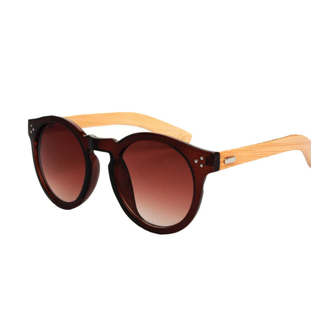 High Quality Bamboo Sunglasses  New 2016   Wooden Glasses Oval sunglasses Women Outdoor Sun Glasses Vintage  Oculos de sol