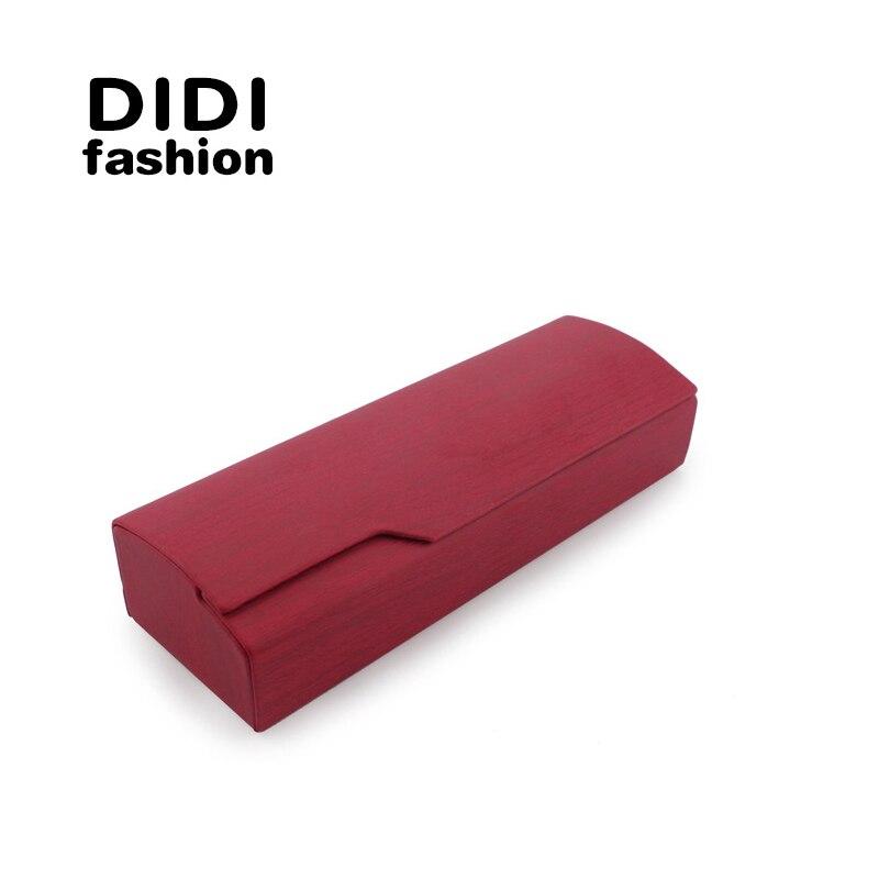 DIDI Metal Glasses Box PU Leather Coated Glasses Box Pouch Handmade Eyewear & Accessories Eyewear Cases H169