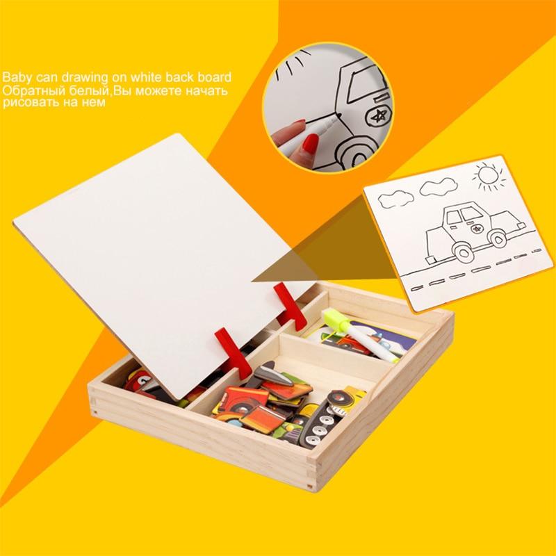 MWZ magnetska zabava jigsaw djeca drvene puzzle odbora kutije komada - Igre i zagonetke - Foto 5