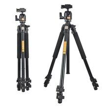 QZSD Q304 Camera tripod Fluid Damping Ballhead Professional Telescope Stable Aluminum 360 Video Camera Tripod Camera Accessories