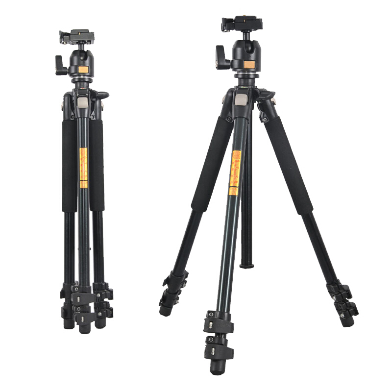 QZSD Q304 Camera tripod Fluid Damping Ballhead Professional Telescope Stable Aluminum 360 Video Camera Tripod Camera Accessories