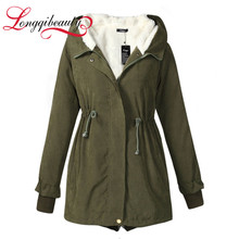 Woman Brand Winter  Down Cotton Plus Size Jacket Plus Size Outwear Casual Overcoat Warm Winter Coat Parkas Femme High Quality