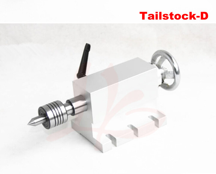 Free shipping CNC tailstock 4 Axis,MT2 Rotary Axis Lathe Engraving Machine Chuck cnc 5axis a aixs rotary axis t chuck type for cnc router cnc milling machine best quality