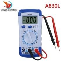 A830L ЖК-Цифровой Мультиметр AC DC Напряжение Диода-Частотных Multitester Вольт Тестер Текущий