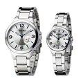 Famosa marca eyki casal relógios de quartzo elegante cópia da flor de luxo hour data relógio calendário luminosa relógio de mesa masculino feminino