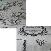 Buy world map fabric and get free shipping on aliexpress world map pattern printed linen fabric for table gumiabroncs Images