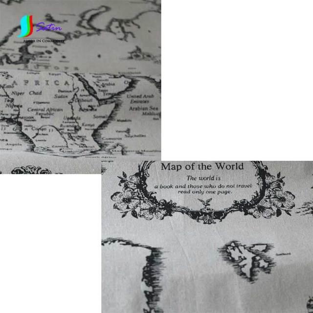 Weltkarte muster Gedruckt Leinen Stoff für Tischdecke/vorhang, DIY ...